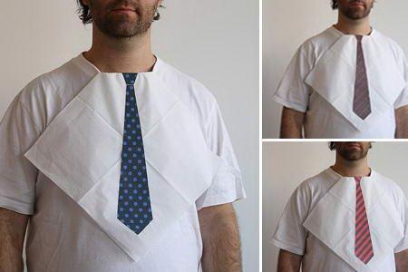 Если вы забыли галстук на деловую встречу эти салфетки выручат вас :)