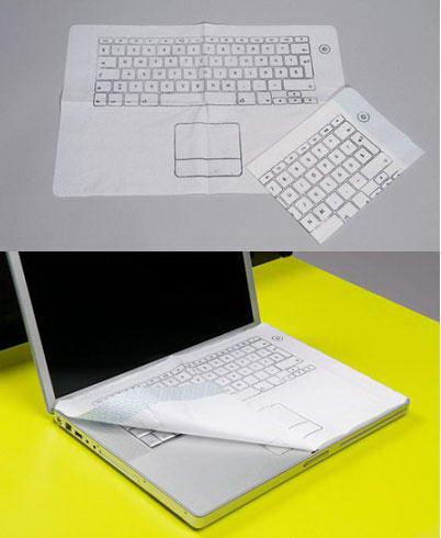 Салфетка-клавиатура не дас испачкать ноутбук