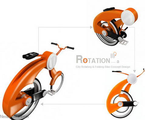 Велосипед очень компактен в сложенном состоянии
