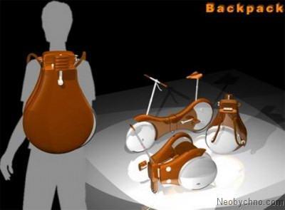 Велосипед-рюкзак - такой легко носить