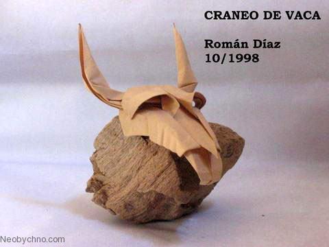 Животные в оригами: череп