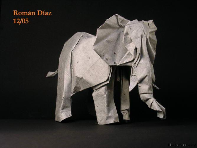 Слон из бумаги - необычное