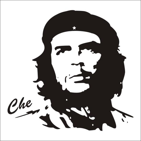 двухцветный портрет Че Гевары анфас