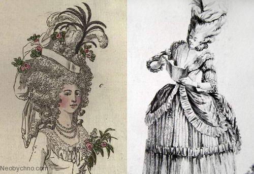 Прически 18 века фото