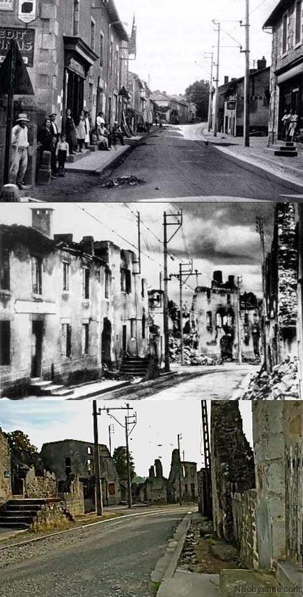 Центральная улица Орадура в разное время