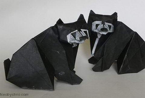 Медведи оригами