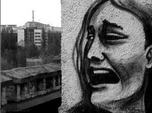 Граффити в городе призраке Припять