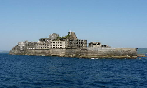 Развалины города-призрака Хашима
