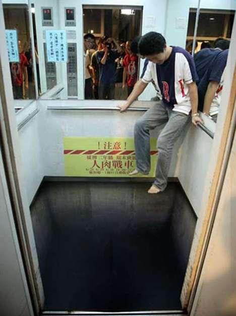 страшный лифт без пола