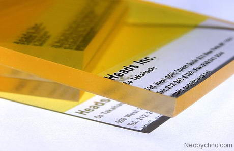 Акриловая утолщенная тонированная визитка