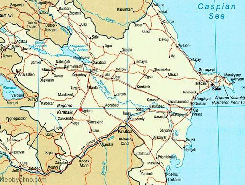 Агдам на карте