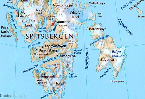 карта Свальбарде