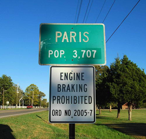 город Париж в США