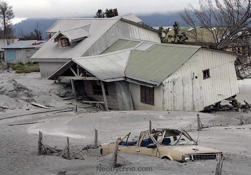 Эвакуированный город на юге Чили