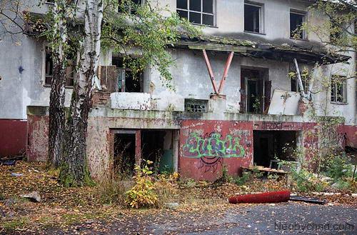 Город-призрак Миловице в Чехии