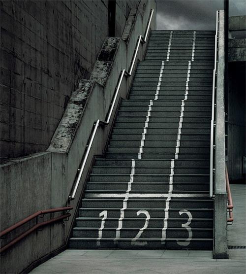 Реклама на лестнице от бразильской спортивной ассоциации инвалидов (ADD)