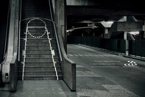 Реклама на лестнице паралимпийских игр