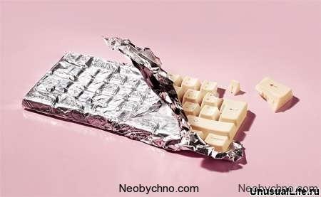 Шоколадная клавиатура для девушек
