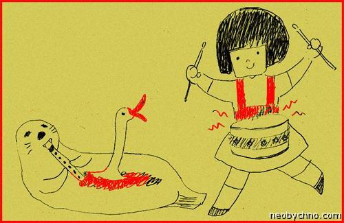кивиак - тюлень, фаршированный чайками