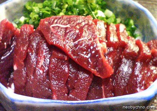 Сасими из китового мяса
