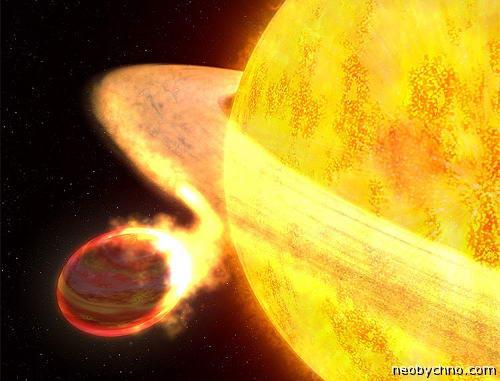 Солнце пожирает планету