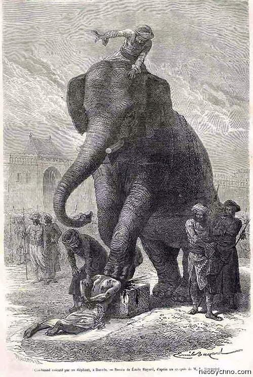 Казнь с помощью слона
