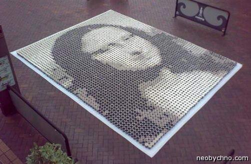 Мозайка Мона Лиза