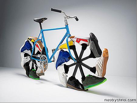 Велосипед в кроссовках