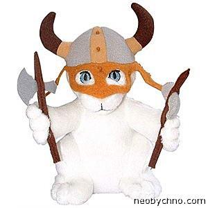 Плюшевый котенок викинг