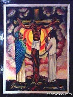 Черный Иисус на кресте