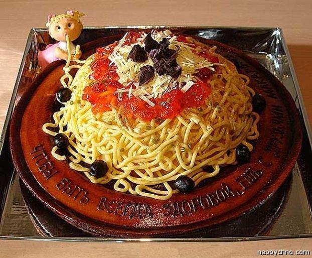 торт из макарон