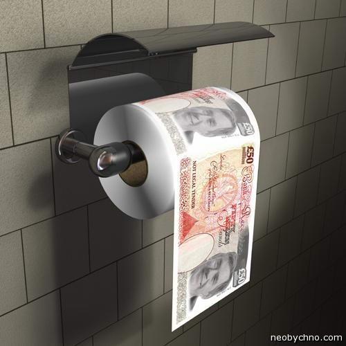 50 евро в качестве туалетной бумаги