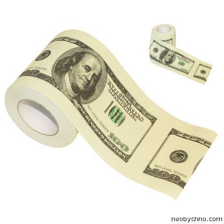 туалетная бумага из долларов