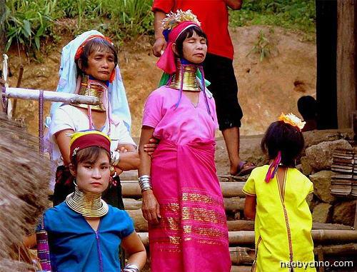 Женщины племени каян