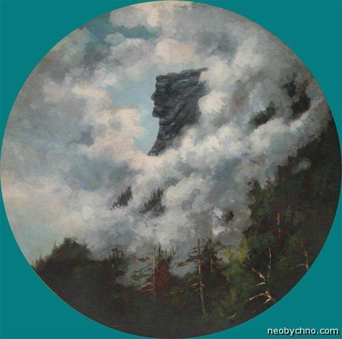 Старик-гора, рисунок