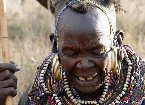 Старуха из дикого племени