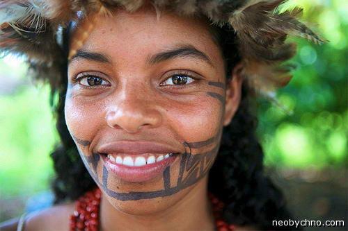 девушка из индейского племени