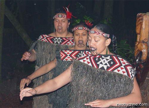 Татуированные женщины маори