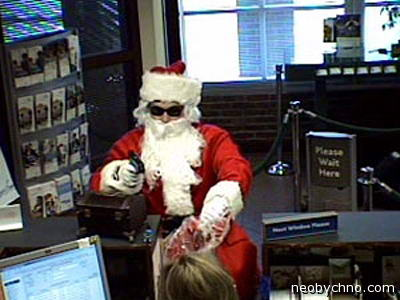 Санта Клаус грабит банк