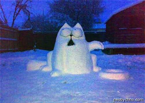 Оригинальный снеговик своими руками из снега