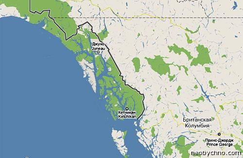 Граница США и Канады, тихоокеанское побережье