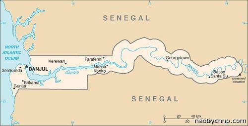 Границы Гамбии