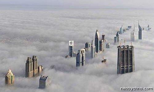 Вид с самого высокого здания в мире