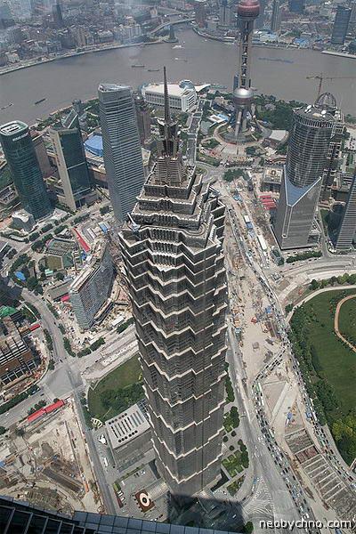 Вид на Шанхай с небоскреба