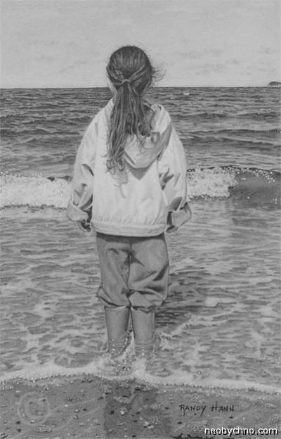 Фотореалистичный рисунок карандашом, Ренди Ханн