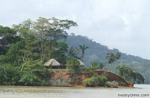 Гатун красивое место остров на озере