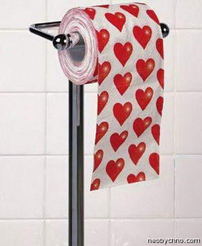 туалетная бумага с сердечками