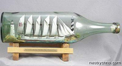 корабль-призрак в бутылке