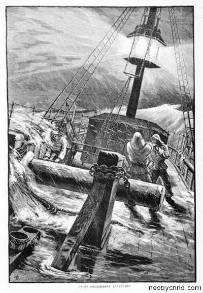 Плавучий маяк и корабль-призрак