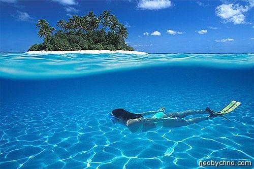 Цвет воды на Сейшельских островах